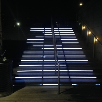 Lit up stairs