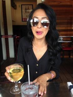 At Benjamin's Raw Bar. Chardonnay is my fave.