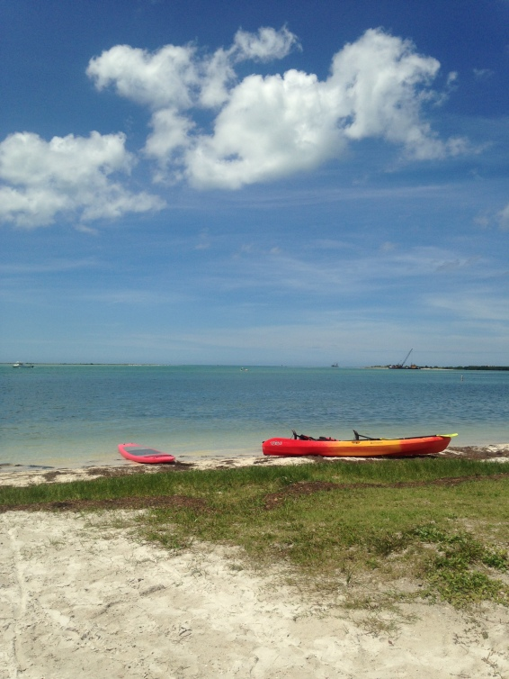 The view in front of Sail Honeymoon, Inc. kayak rentals