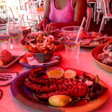 Greek Style Octopus, Frenchy's Garlic Crab Fries, Maryland Style Jumbo Lumb Crab Cakes