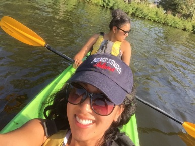 Kayaking with my cousin