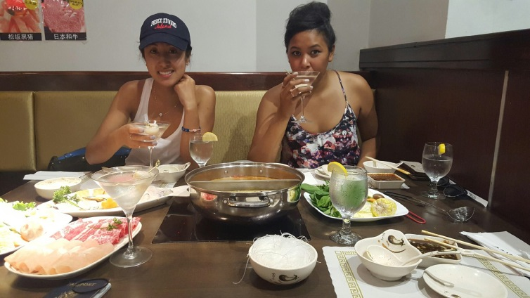 With my cousin at ShabuZen