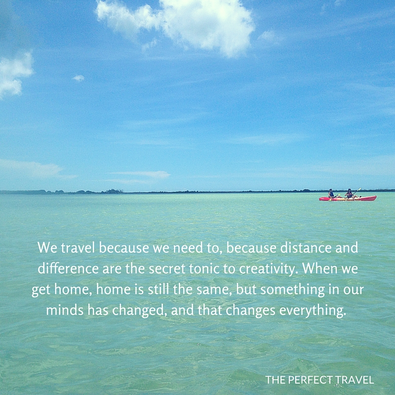 We travel because we need to. Because distance