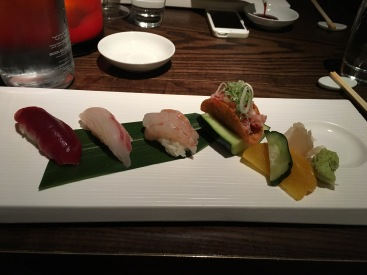 Assortment of sashimi