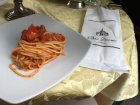 I had to try some real Italian pasta with tomato sauce.