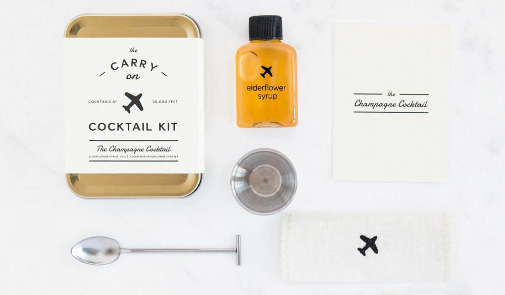 cocktail kit with a spoon